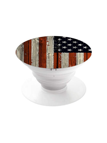 USA Flag Pop Grip Socket with Mount