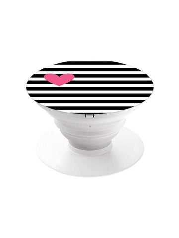 Pink Heart Pop Grip Socket with Mount