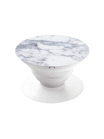 White Marble Pop Grip Socket with Mount