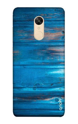Blue Wooden Xiaomi Redmi 5 Cases & Covers Online