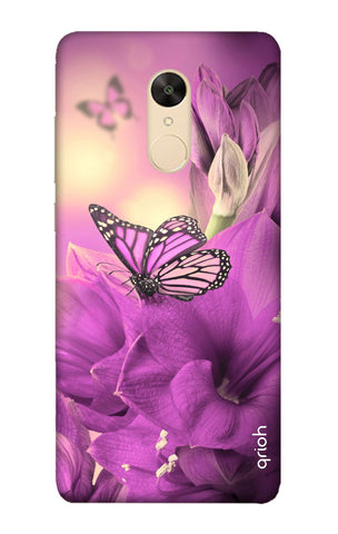 Purple Butterfly Xiaomi Redmi 5 Cases & Covers Online