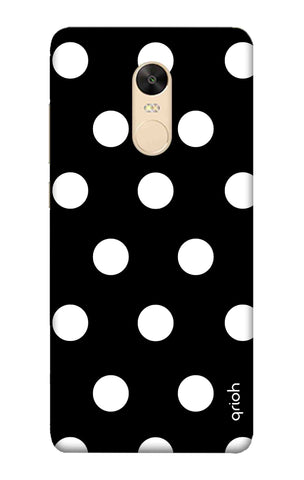 White Polka On Black Xiaomi Redmi 5 Plus Cases & Covers Online