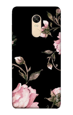 Pink Roses On Black Xiaomi Redmi 5 Plus Cases & Covers Online