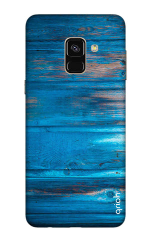 Blue Wooden Samsung A8 2018 Cases & Covers Online