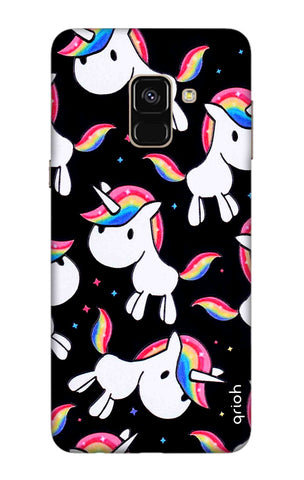 Colourful Unicorn Samsung A8 2018 Cases & Covers Online