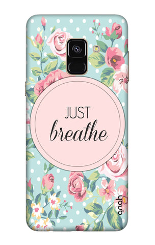 Vintage Just Breathe Samsung A8 Plus 2018 Cases & Covers Online