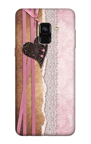 Heart in Pink Lace Samsung A8 Plus 2018 Cases & Covers Online