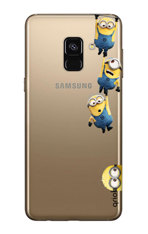 Falling Minions Samsung A8 Plus 2018 Cases & Covers Online