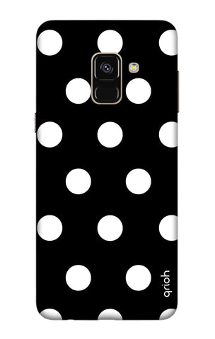 White Polka On Black Samsung A7 2018 Cases & Covers Online