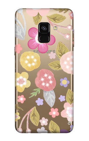 Multi Coloured Bling Floral Samsung A7 2018 Cases & Covers Online