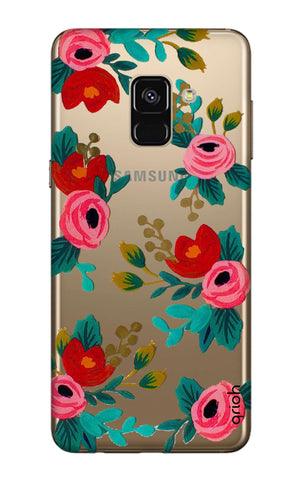 Red Floral Samsung A7 2018 Cases & Covers Online