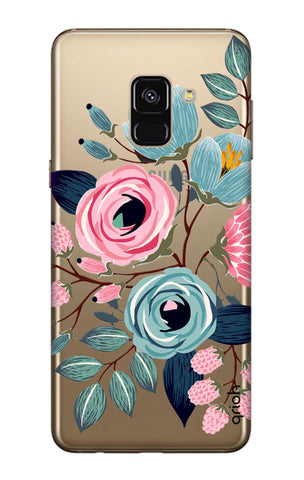 Pink And Blue Floral Samsung A7 2018 Cases & Covers Online