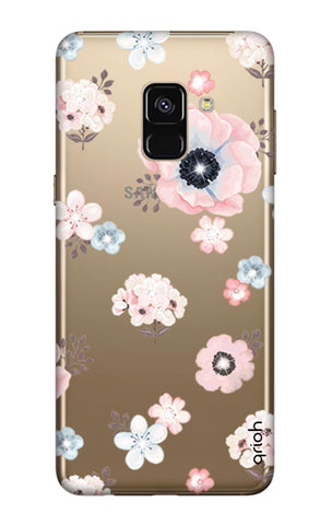 Beautiful White Floral Samsung A7 2018 Cases & Covers Online