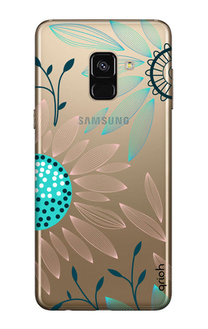 Pink And Blue Petals Samsung A7 2018 Cases & Covers Online