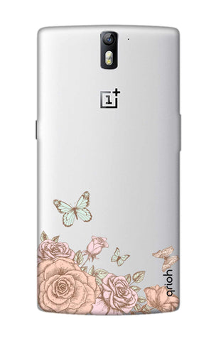 Flower And Butterfly OnePlus One Cases & Covers Online