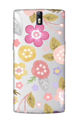 Multi Coloured Bling Floral OnePlus One Cases & Covers Online