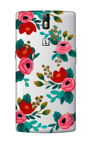 Red Floral OnePlus One Cases & Covers Online