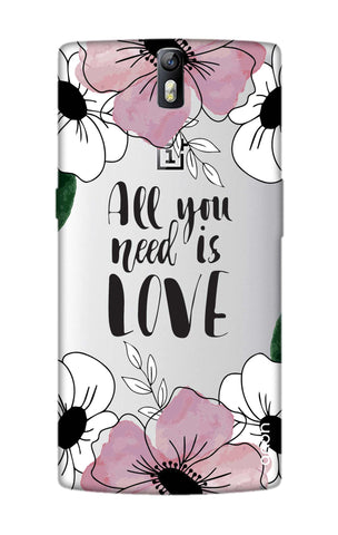 All You Need is Love OnePlus One Cases & Covers Online