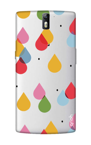Colourful Drops OnePlus One Cases & Covers Online