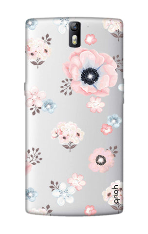 Beautiful White Floral OnePlus One Cases & Covers Online