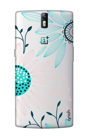 Pink And Blue Petals OnePlus One Cases & Covers Online