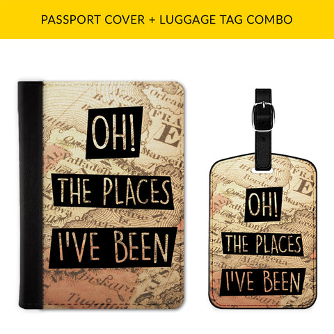 Places I've Been Passport & Luggage Tag Combo