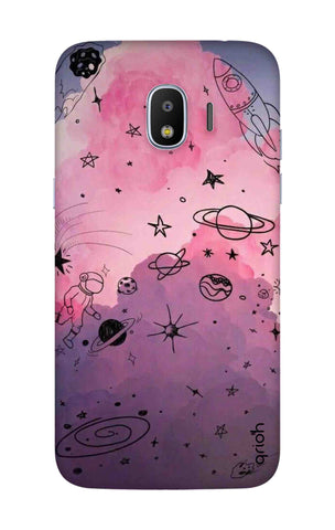 Space Doodles Art Samsung J2 Pro 2018 Cases & Covers Online