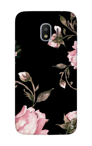 Pink Roses On Black Samsung J2 Pro 2018 Cases & Covers Online