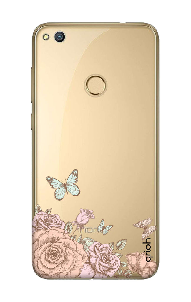 separation shoes 0a5c8 1099d Flower And Butterfly Case for Honor 8 Lite