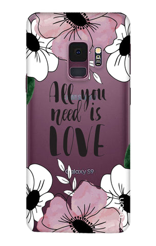 All You Need is Love Samsung S9 Cases & Covers Online