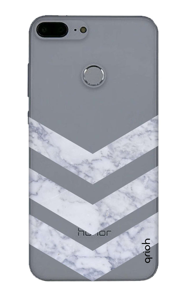 buy popular 66823 d14c5 Marble Chevron Case for Honor 9 Lite