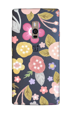 Multi Coloured Bling Floral OnePlus 2 Cases & Covers Online