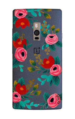 Red Floral OnePlus 2 Cases & Covers Online