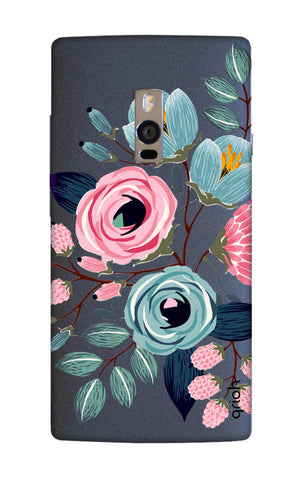 Pink And Blue Floral OnePlus 2 Cases & Covers Online
