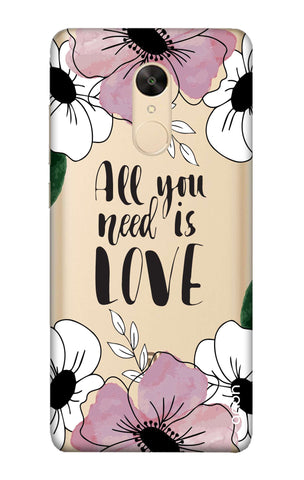 All You Need is Love Redmi Note 5 Cases & Covers Online