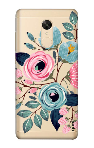 Pink And Blue Floral Redmi Note 5 Cases & Covers Online