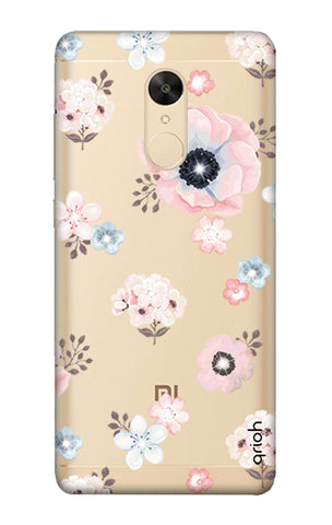 Beautiful White Floral Redmi Note 5 Cases & Covers Online