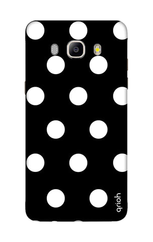 White Polka On Black Samsung ON8 Cases & Covers Online