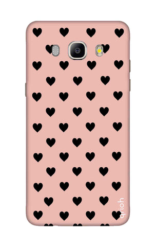 Black Hearts On Pink Samsung ON8 Cases & Covers Online