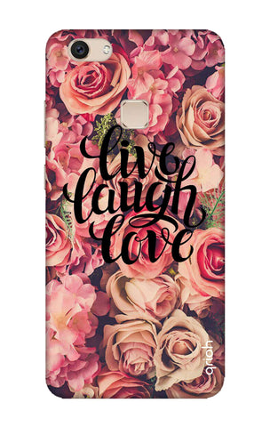Floral Live, Laugh, Love Vivo V7 Cases & Covers Online