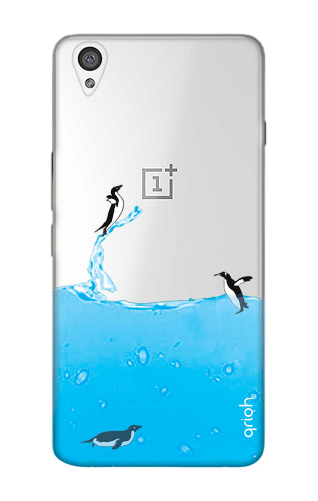 half off 520bb 05f47 Penguins In Water Case for OnePlus X