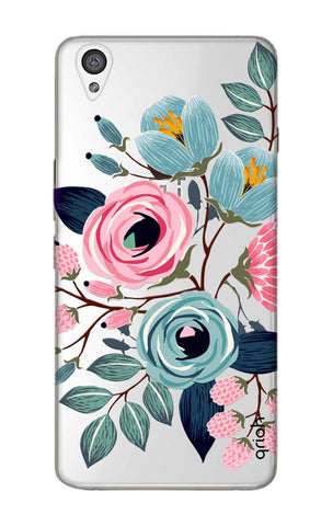 Pink And Blue Floral OnePlus X Cases & Covers Online