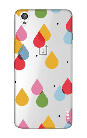 Colourful Drops OnePlus X Cases & Covers Online