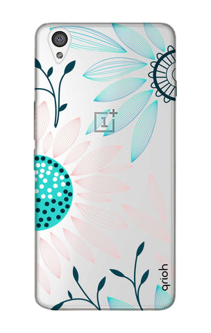 Pink And Blue Petals OnePlus X Cases & Covers Online