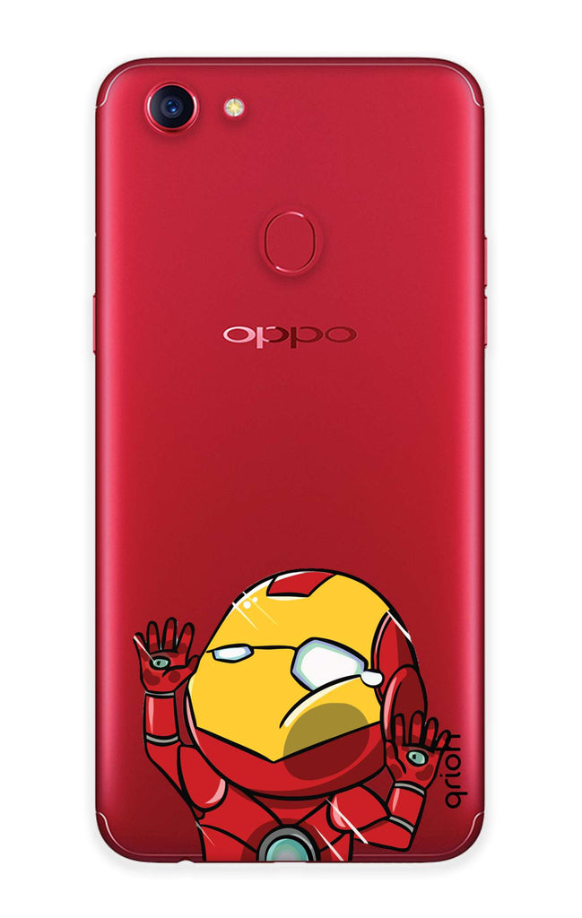save off 311c9 200df Iron Man Wall Bump Case for Oppo F7
