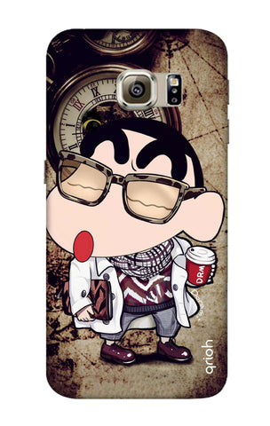 Nerdy Shinchan Samsung S6 Edge Cases & Covers Online