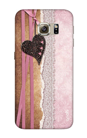 Heart in Pink Lace Samsung S6 Edge Cases & Covers Online