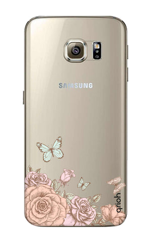 Flower And Butterfly Samsung S6 Edge Cases & Covers Online
