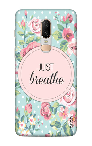Vintage Just Breathe OnePlus 6 Cases & Covers Online