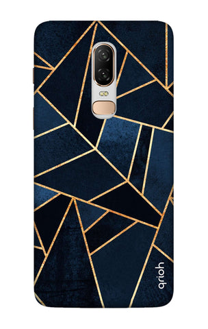 Abstract Navy OnePlus 6 Cases & Covers Online